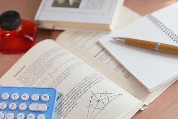 勉強道具一式。